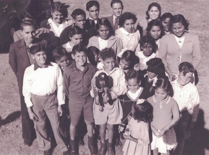 2617 Aboriginal kids at Mulgoa circa 1948 - Rona Glynn wearing a cardigan OK
