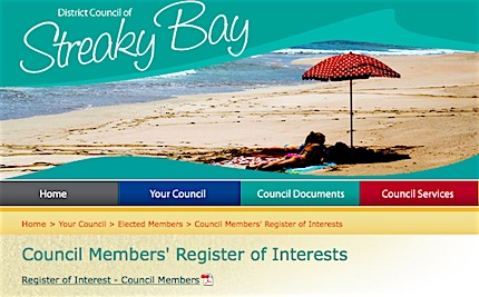 p2617 Streay Bay council register 430